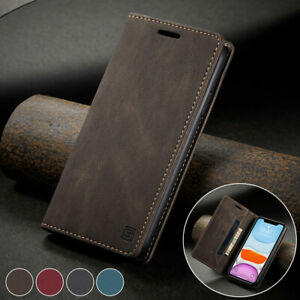 Slim Leather Wallet Case Card Magnetic Flip Cover for iPhone 13 12 Mini Pro Max