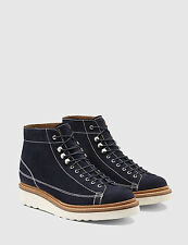 GRENSON Andy Navy Suede Monkey Boots UK 7 EU 41 LN08 95
