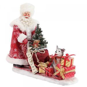 Possible Dreams Santa & Husky Dog Snow Buddies Christmas Figurine  Dept 56