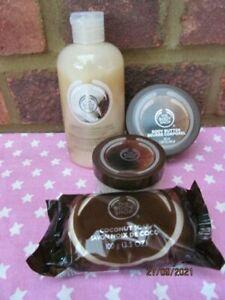 NEW The Body Shop Coconut Bath Bundle Shower Cream Soap Body Butter Scrub Skin
