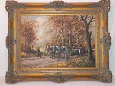 Künstlerische 1950-1999er Malereien mit Pferde-Motiv