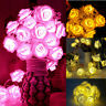 20 LED Rose Flower String Lights Fairy Wedding Christmas Party Garden Decor Vv
