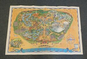 DISNEYLAND, 1966 VINTAGE MAP, 30 X 44 INCHES, EXCELLENT CONDITION