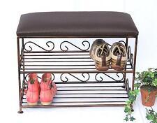 Armoire à chaussures avec banc art.165 Banc 60 cm Meuble à chaussures en métal