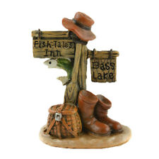 Miniature Dollhouse Fairy Garden - Fish Tales Inn Sign - Accessories