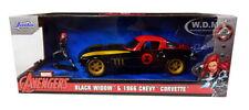 Hollywood Rides 1966 Chevrolet Corvette and Black Widow figure 1:24 (Jada 31749)