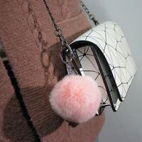 20 Colors Fluffy Fur Keychains Soft Car Key Chains Women Bag Pendant Jewelry