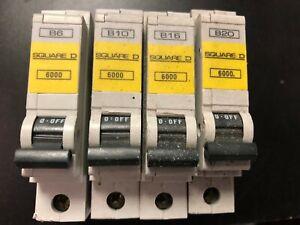 Square D QOE MCB Single Pole Qwikline Breaker Type B 6000