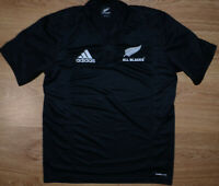NEW ZEALAND ALL BLACKS RUGBY UNION SHIRT JERSEY ADIDAS SIZE M ADULT