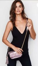 NWT Victoria's Secret Luxe Python Downtown Crossbody Pink