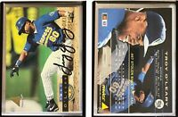 Troy O'Leary Signed 1994 Pinnacle #424 Card Milwaukee Brewers Auto Autograph