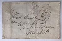 1826 Stampless Cover Paid at Edinburgh to Greenock Scotland