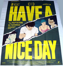 HAVE A NiCE DAY 好极了 China Chinese animation Liu Jian  LARGE French POSTER