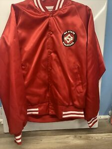 NC State Wolfpack Vintage Red Satin Jacket