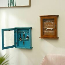 Wooden Key Holder Box Wall Mounted Decorative Key Pastoral Style Key Cabinet