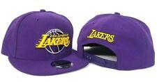 New Era Los Angeles Lakers Snapback Hat Team color Purple