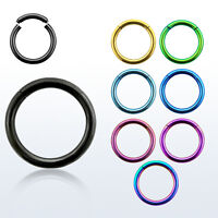 14G Titanium Anodized Seamless Segment Ring Nose Hoop Septum Cartilage Earring