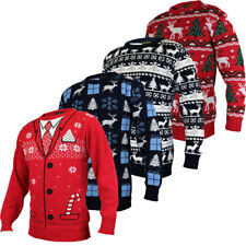NEW CHRISTMAS Jumpers S-4XL XMAS Ladies Womens Mens UNISEX Knitted Sweater SANTA