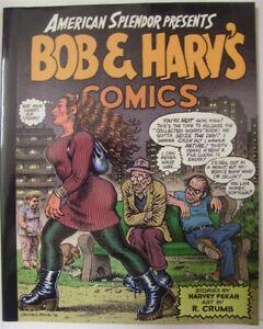 AMERICAN SPLENDOR PRESENTS BOB & HARVS COMICS GN 1ST PRINT PEKAR CRUMB 1996 NM
