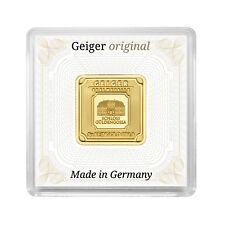 Geiger original 5 Gramm Goldbarren Gold Bar quadratisch in Kapsel