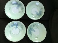 "Set of 4 PARAGON English Fine Bone China 6"" Saucers bluebell flower gold rim"