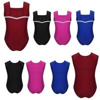 Girls Leotard Kids Ballet Dance Wear Gymnastics Jumpsuit Bodysuit Sports Costume