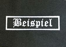 Individueller Namenspatch Aufnäher Biker Kutte Namensschild Patch Name