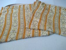 Pair Of Vintage Long Door Curtains Large Window. lined gold/mustard striped