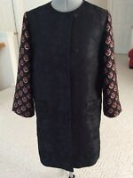 Authentic Etro Topper Coat Multicolored Mainly Black size 6 US 42 IT