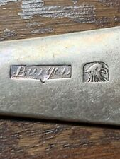 18TH C. AMERICAN COIN SILVER TABLESPOON PROBABLY JOHN BURGER NYC C.1795