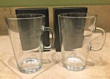 Nespresso View Collection Glass Coffee Mugs - Set of 2 - NIB