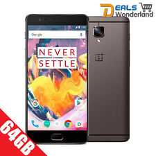 "New 5.5"" Oneplus 3T 4G Lte Quad Core 6GB Ram 64GB Unlocked Gunmetal Grey"
