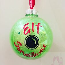 x4 Elf Surveillance Cam Vinyl Decal Stickers For DIY Christmas Bauble Decoration