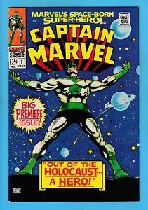 CAPTAIN MARVEL # 1 VFN (7.5/8.0) 'BIG PREMIERE ISSUE'_HIGH GRADE CENTS COPY_1968