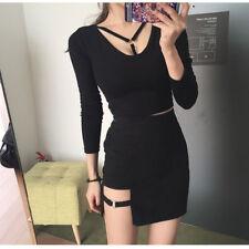 Fashion Womens Mini Skirt Sexy Half-length Short Skirt Clubwear Zipper
