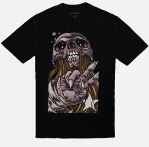 NEW Pushead Peace Brutha Black S/S T Shirt w/ Tote Bag Men's Size Medium