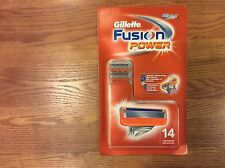 GILLETTE FUSION POWER 14 CARTRIDGES NEW, FREE SHIPPING87y7