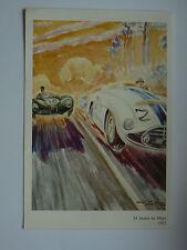 Image 24 Heures du Mans  1952   signée  Geo HAM   course auto  sport card poster