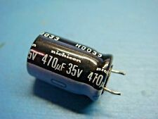 (25) NICHICON UVR1H471M 470uF 50V 85°C 20% RADIAL ALUM ELECTROLYTIC CAPACITOR