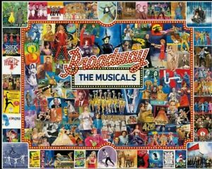 """White Mountain """"BROADWAY THE MUSICALS"""" 1000 Piece Puzzle"""