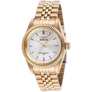 Invicta Women's Watch Specialty Silver Dial Rose Gold Bracelet Quartz 29413