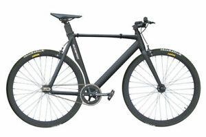 """GODSPEED Singlespeed Fixie 700c 28"""" Alu Rahmen Fahrrad Bike Schwarz matt"""