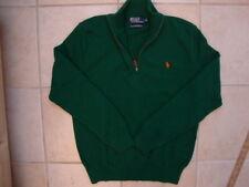 Polo By Ralph Lauren Green 1/2 Zip Men's pullover Sweater NICE M