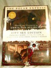 2004 The Polar Express Gift Set by Chris Van Allsburg Book/Cassette/Cd Nip