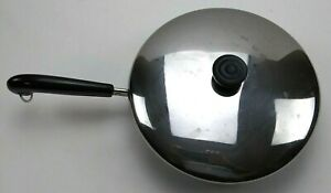 Revere Ware 10 inch skillet Pan stainless steel Disk Bottom 91g Clinton IL w/lid