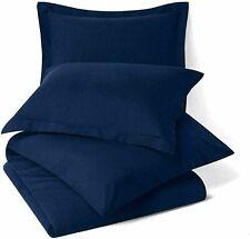Solid Uni Mikrofaser Nur Bett Kissenbezug Marineblau Set Mit 2 Best für Geschenk