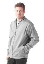 Men's Oakley The Motion Full Zip Fleece Jacket Heather Grey Size XXL