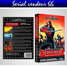 "Boitier du jeu "" SHINOBI 3 "", Megadrive, PAL FR. HD. SANS LE JEU."