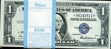 1935f ONE DOLLAR PACK SILVER CERTIFICATE STAR NOTES UNC
