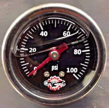 HARLEY LIQUID FILLED OIL PRESSURE GAUGE 100PSI hd chopper bobber black ss 100